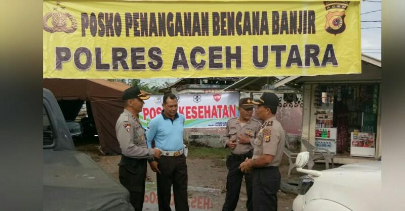 Layani Korban Banjir, Polres Aceh Utara Buka Posko di ...