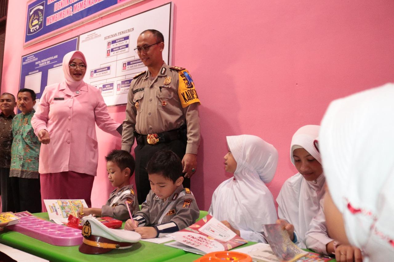 Kapolres Aceh Utara Resmikan Taman Bacaan Anak Usia Dini di Lhoksukon