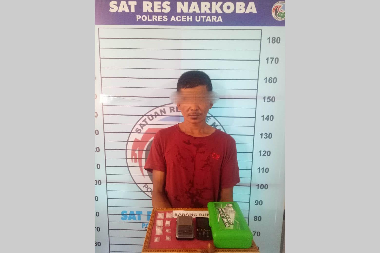 Polisi Tangkap Penjual Narkoba di Paya Bakong, 8 Paket Sabu Diamankan