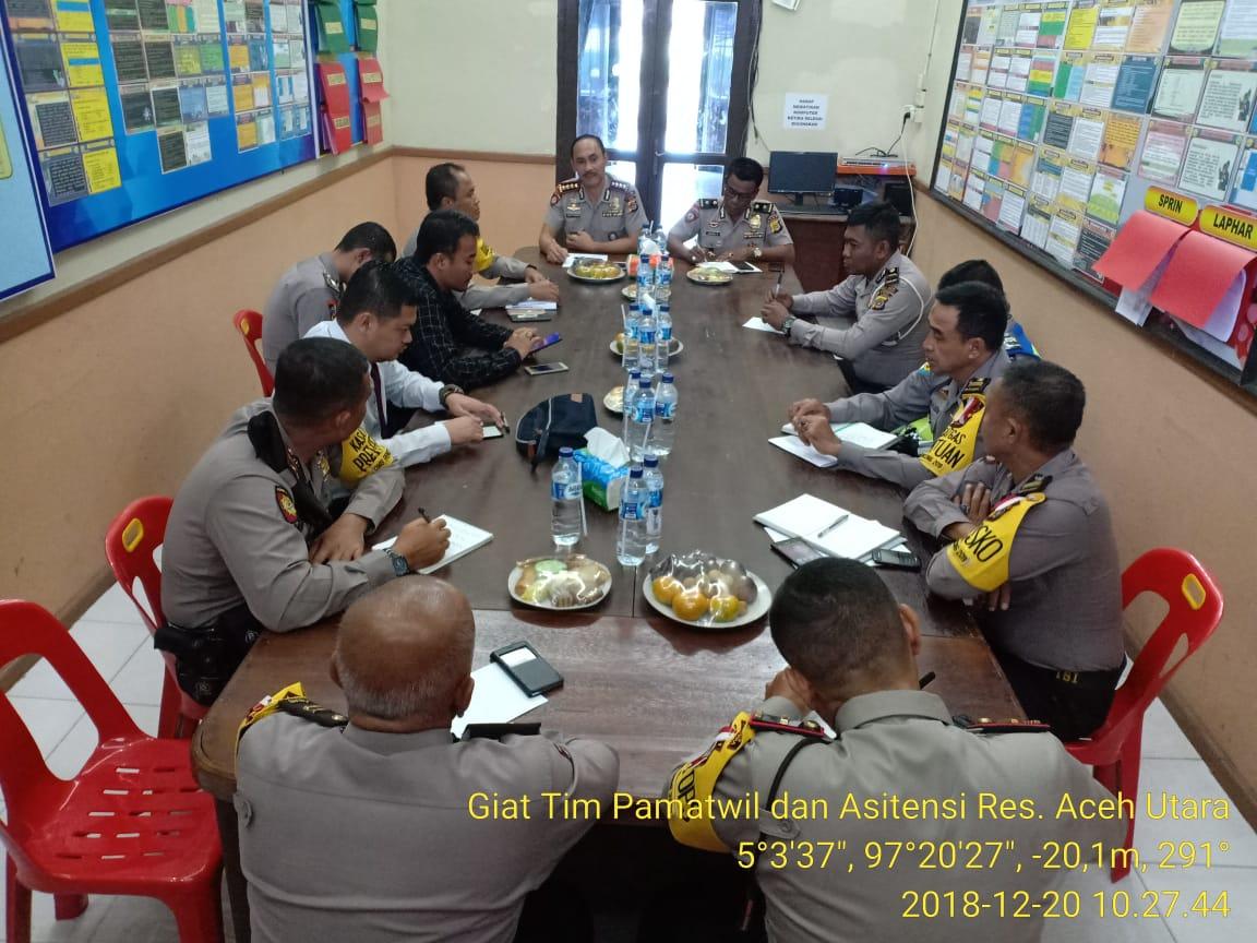 Tim Pamatwil Kunjungi Polres Aceh Utara