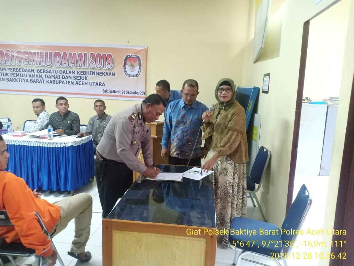 Deklarasi Pemilu Damai Bergema di Kecamatan Baktiya Barat