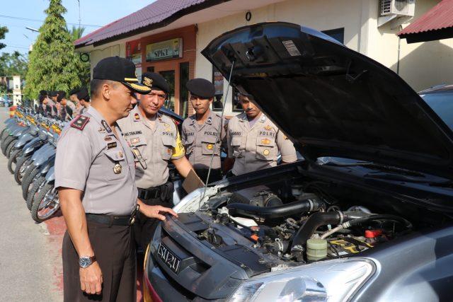 Hadapi Pemilu 2019, Polres Aceh Utara Apelkan Ranmor Dinas Sat Sabhara