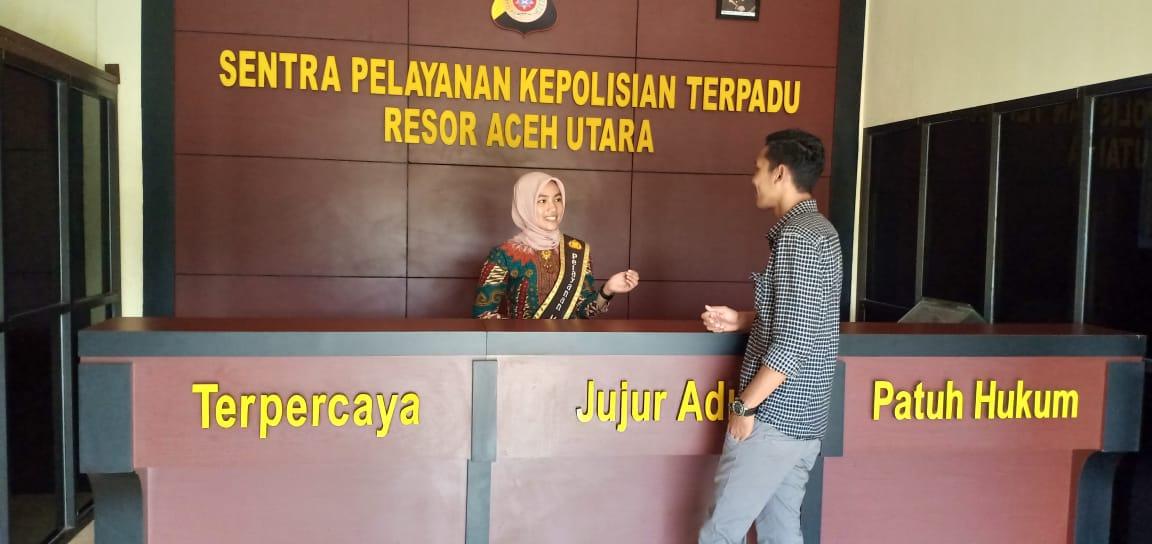 Berikan Pelayanan Prima, Polres Aceh Utara Tempatkan Polwan di SPKT