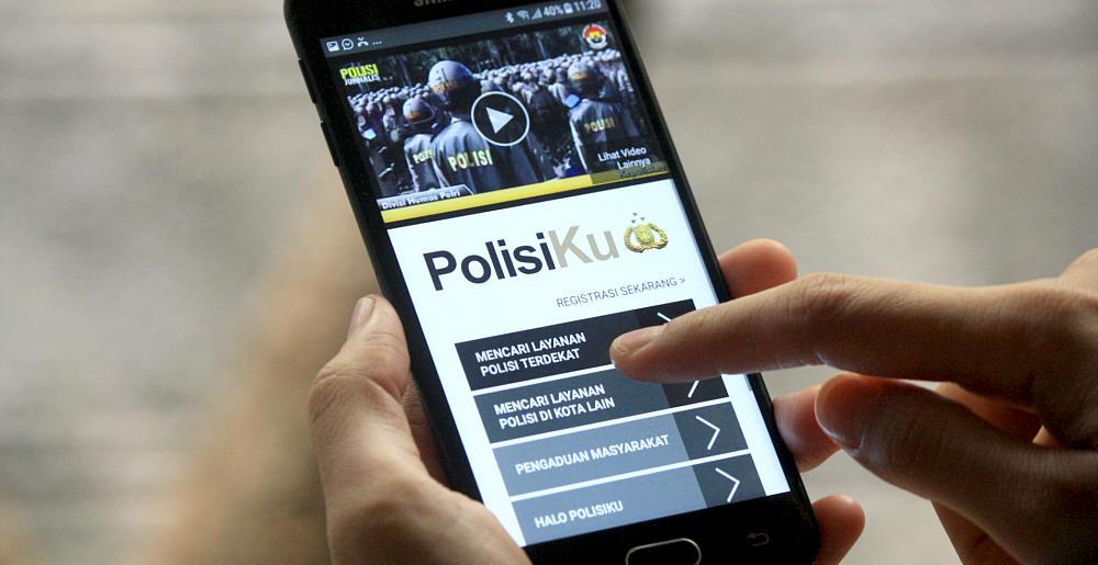 Mencari Bantuan Polisi Itu Mudah, Bisa Dari Ponsel