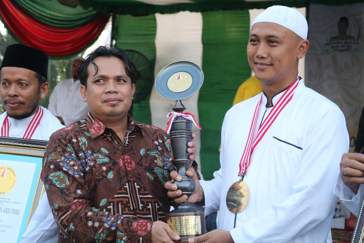 Kapolres Aceh Utara Raih Penghargaan LEPRID di Acara Zikir Akbar