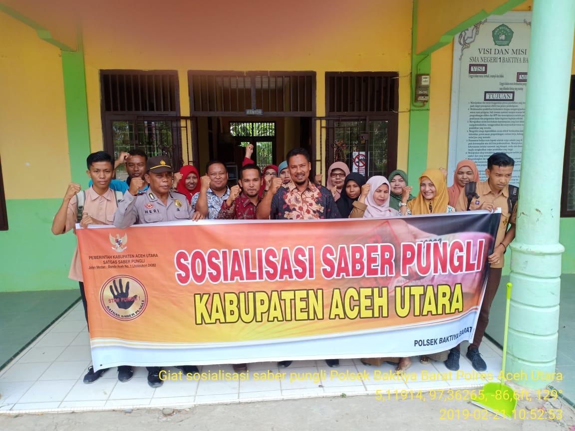 Blusukan ke Sekolah, Tim Saber Pungli Aceh Utara Lakukan Sosialisasi