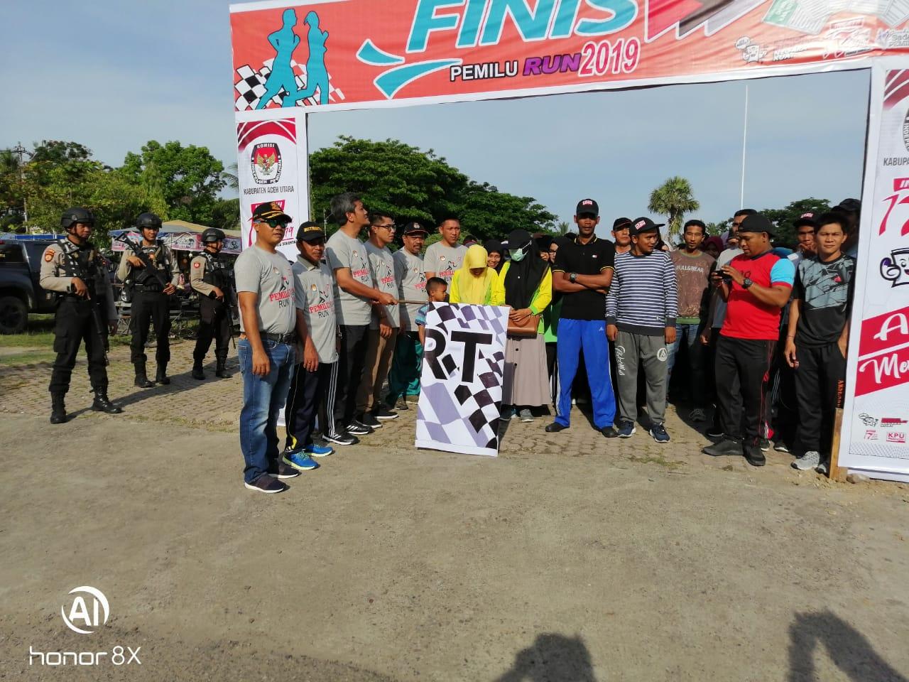 Amankan Pemilu Run di Lhoksukon, Polres Aceh Utara Kerahkan Puluhan Personel