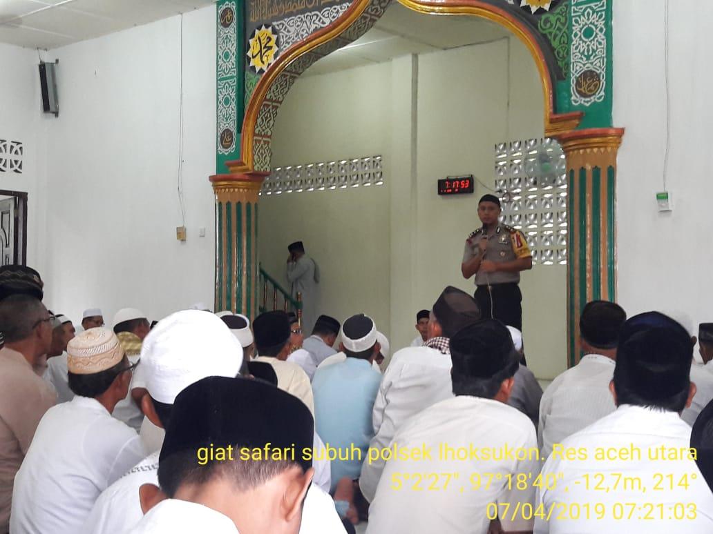 Kapolres Aceh Utara Ajak Jamaah Subuh Untuk Tidak Golput