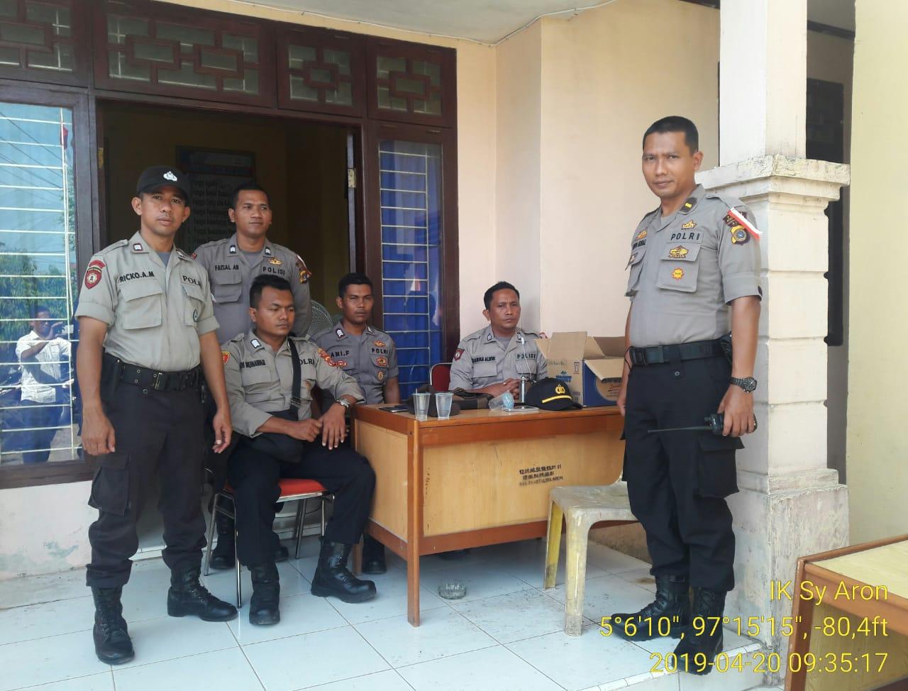 Ratusan Polisi Amankan Rapat Pleno Rekapitulasi Pemilu Tingkat Kecamatan di Aceh Utara