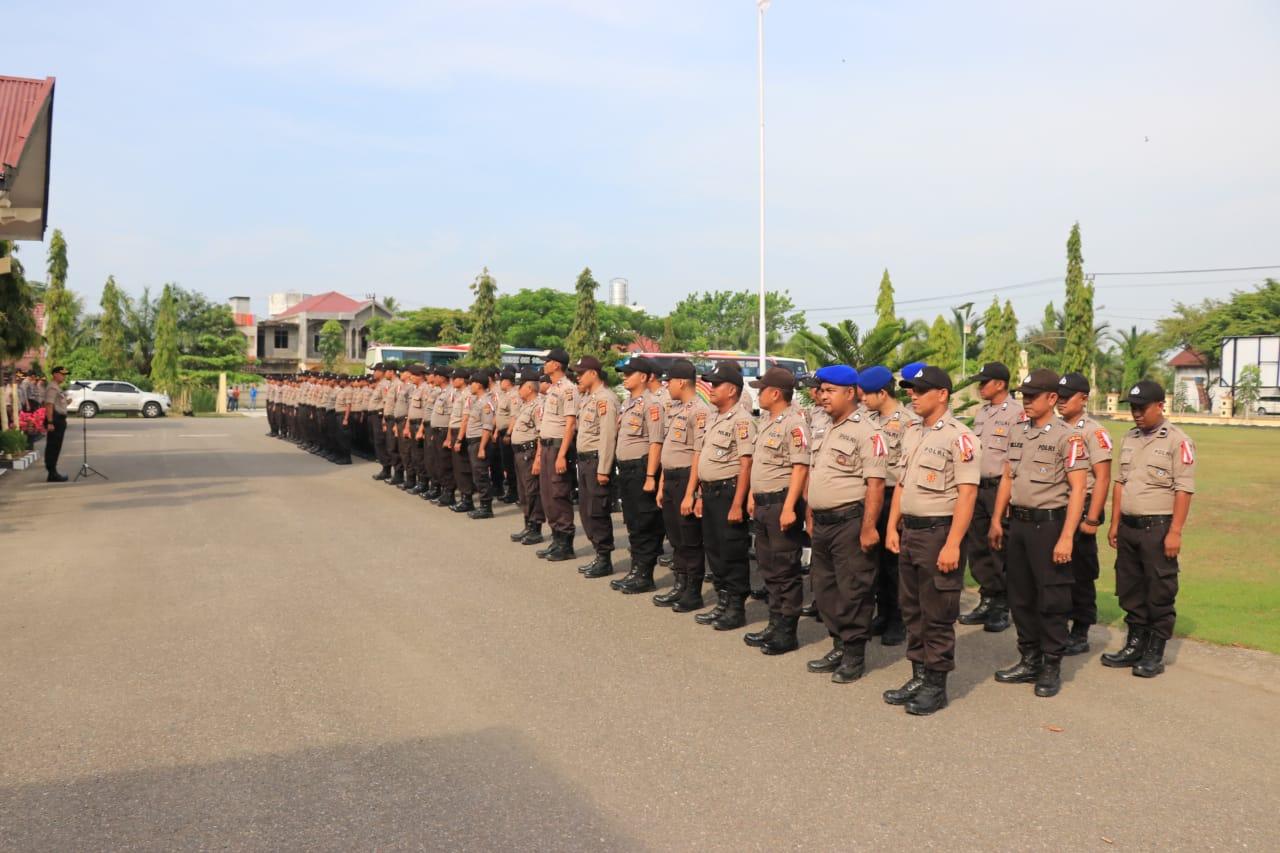 Personel BKO Pengamanan Pemilu di Wilkum Polres Aceh Utara Dilepas
