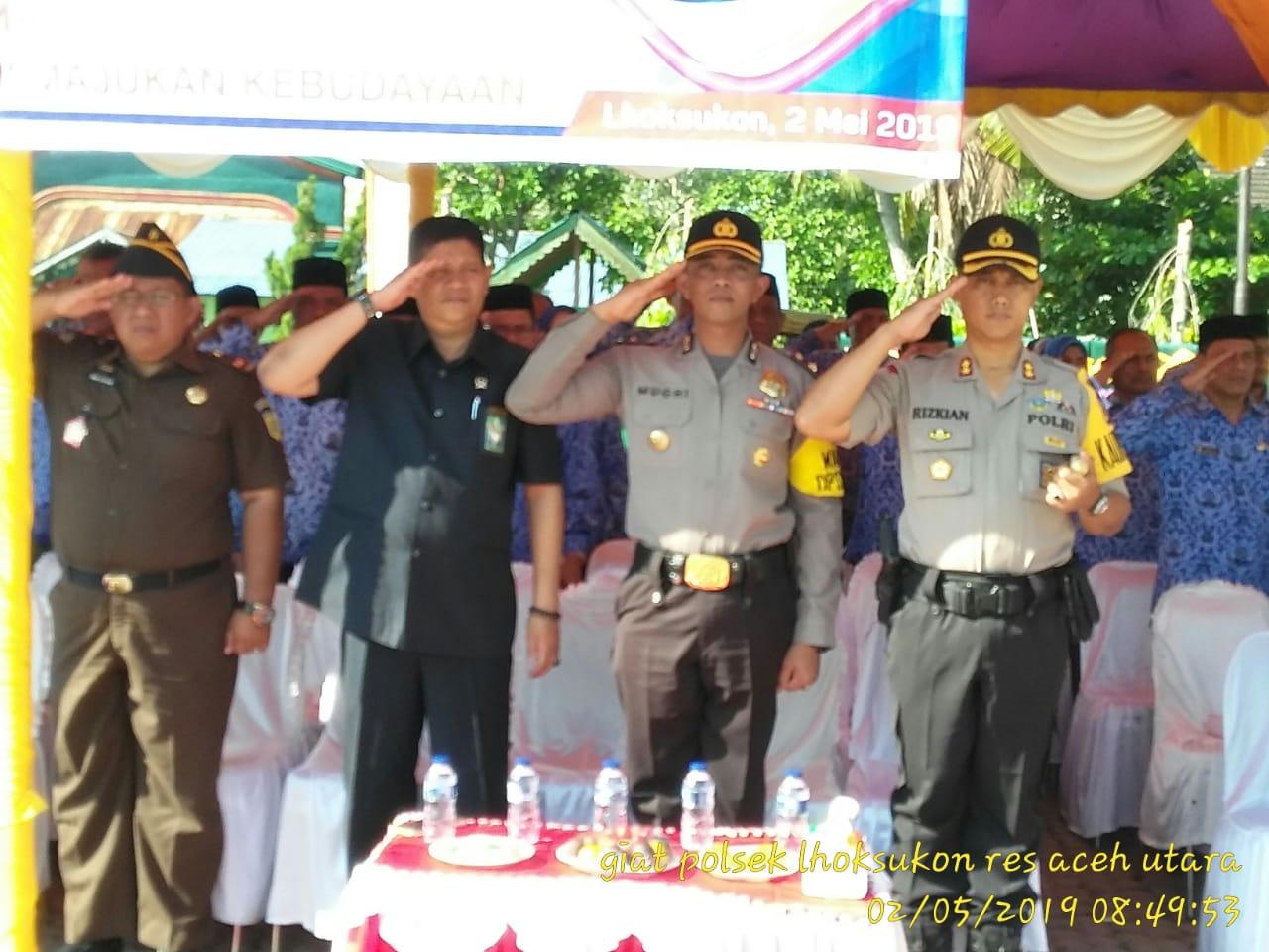 Kapolres Aceh Utara Hadiri Upacara Peringatan Hardiknas di Lhoksukon