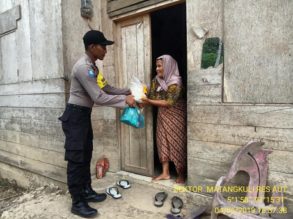 Jelang Bulan Ramadhan, Polres Aceh Utara Salurkan Bantuan 1,5 Ton Beras
