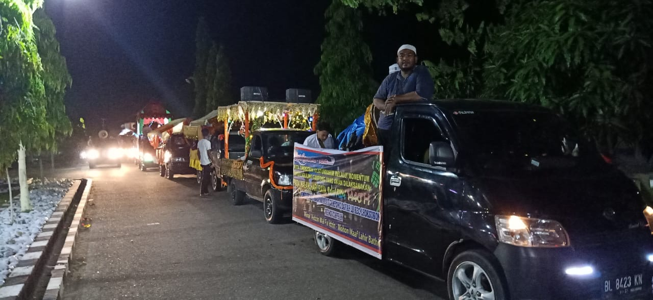 Ambil Start di Polres, Pawai Takbiran Aceh Utara berjalan semarak