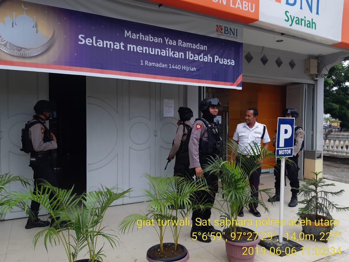 Tim Patroli Polres Aceh Utara Gencar Pantau Kamtibmas Selama Lebaran