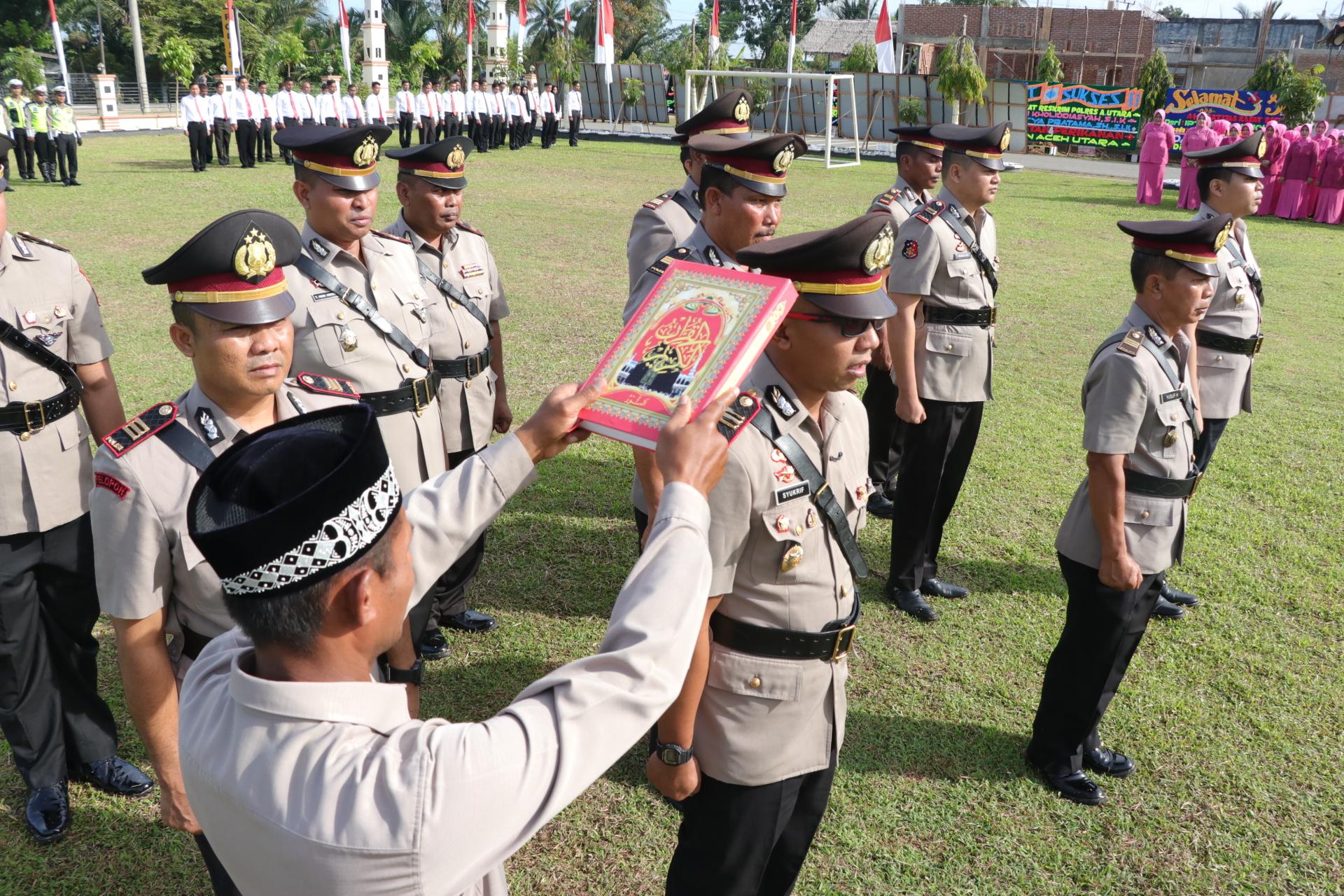Enam Pejabat Utama Polres Aceh Utara Berganti
