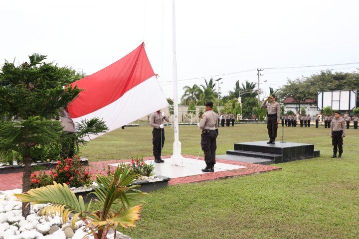 Wakapolres Aceh Utara Pimpin Upacara, Personel Diminta Tingkatkan Kinerja