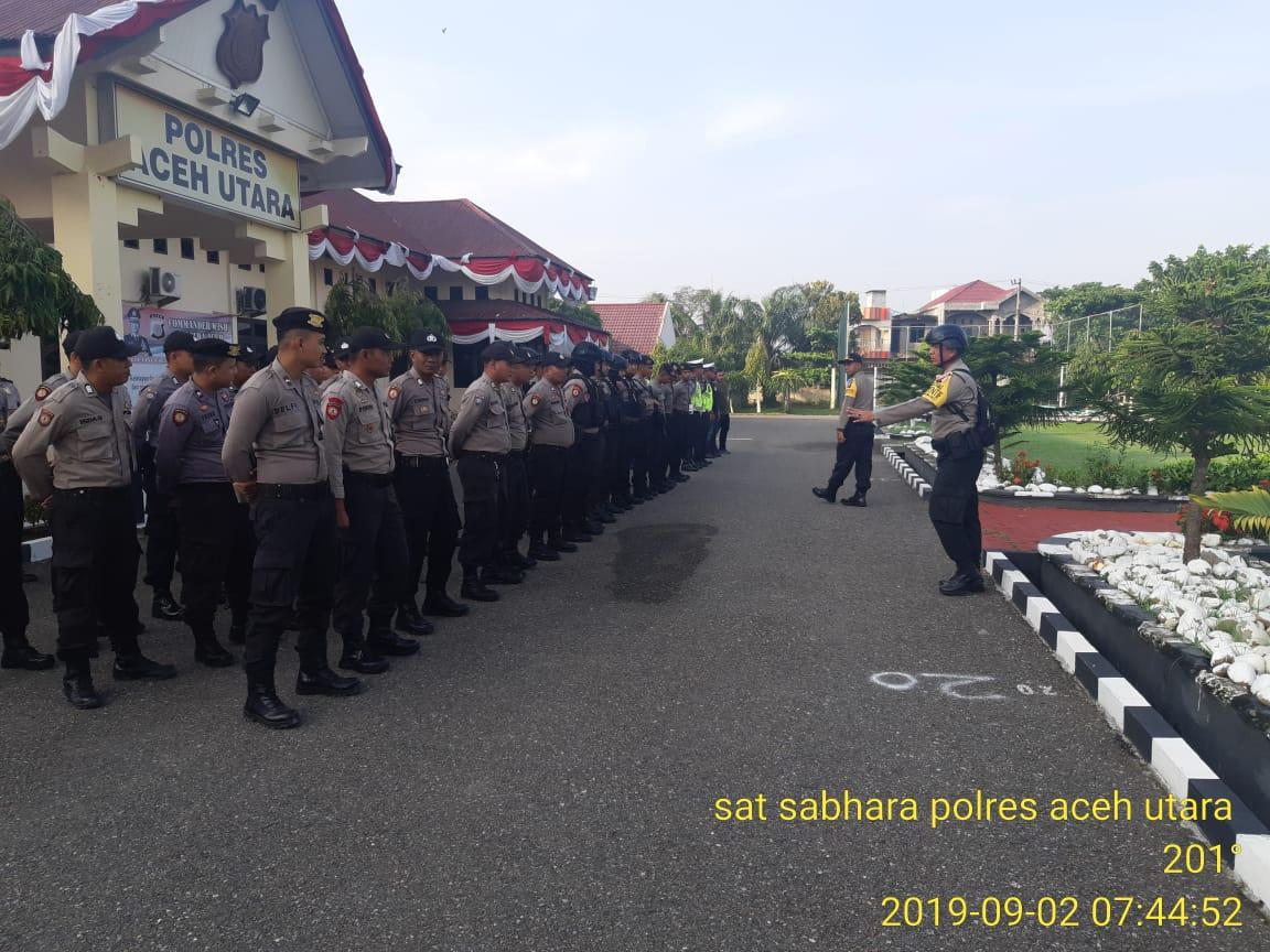 Amankan Pelantikan Anggota DPRK, Polres Aceh Utara Kerahkan 50 Personel