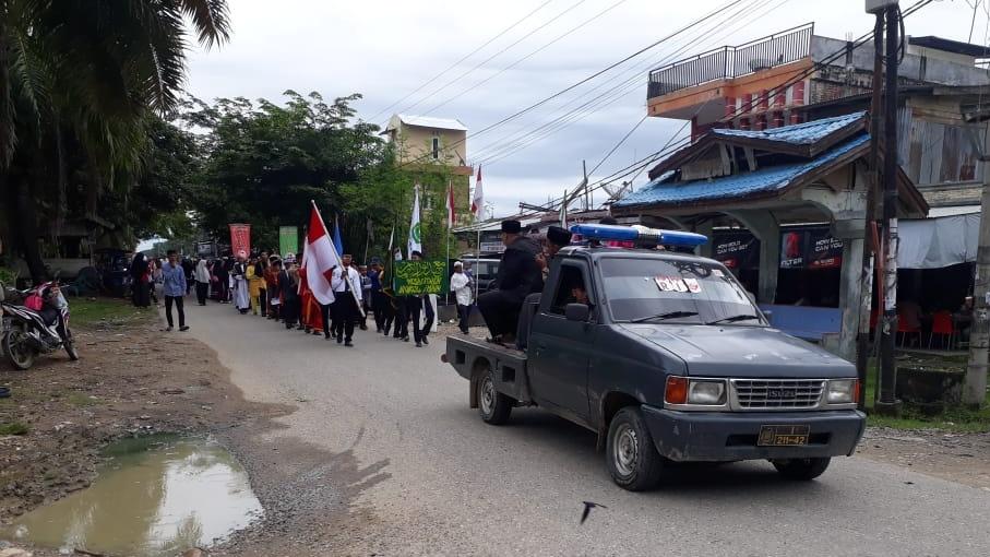 Polisi Kawal Pawai Tahun Baru Islam di Cot Girek