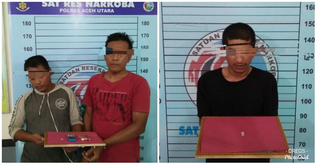 Perkara Sabu Lagi, Tiga Pria Diboyong ke Polres Aceh Utara