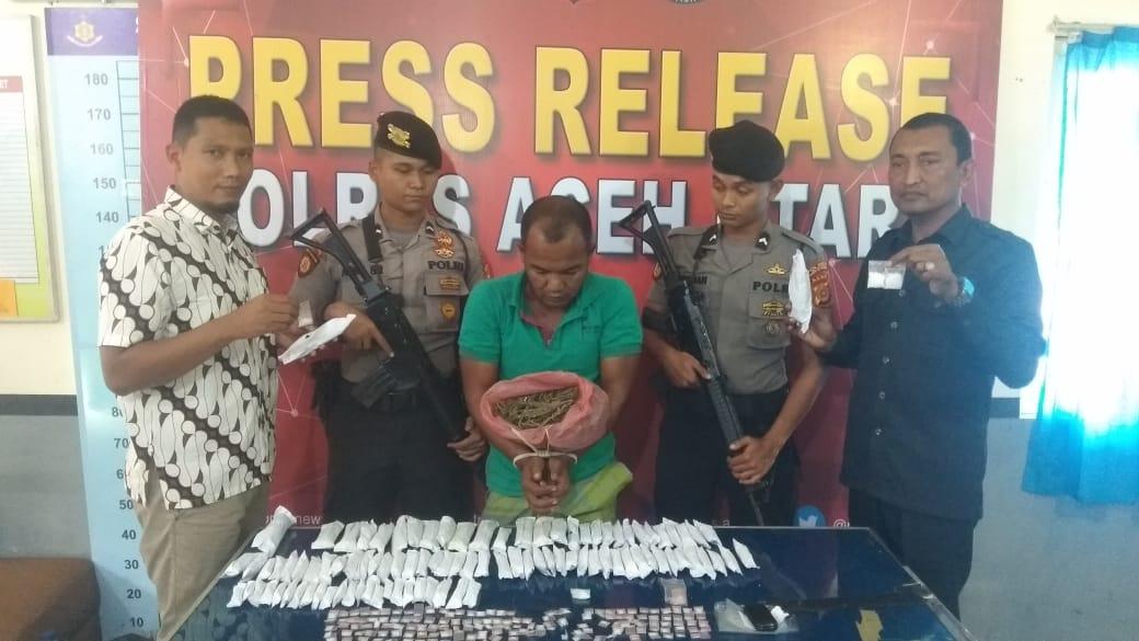 Residivis Pengedar Ratusan Paket Narkoba di Aceh Utara ditembak
