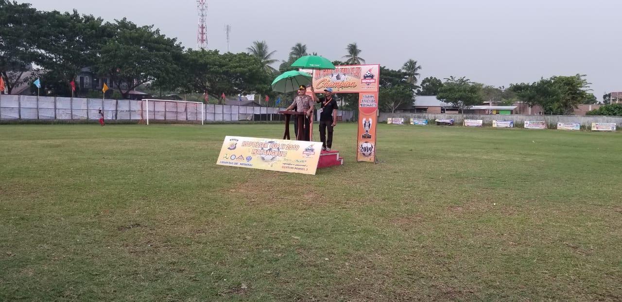 Wakapolres Aceh Utara Buka Turnamen Kapolsek Cup II 2019 Matangkuli