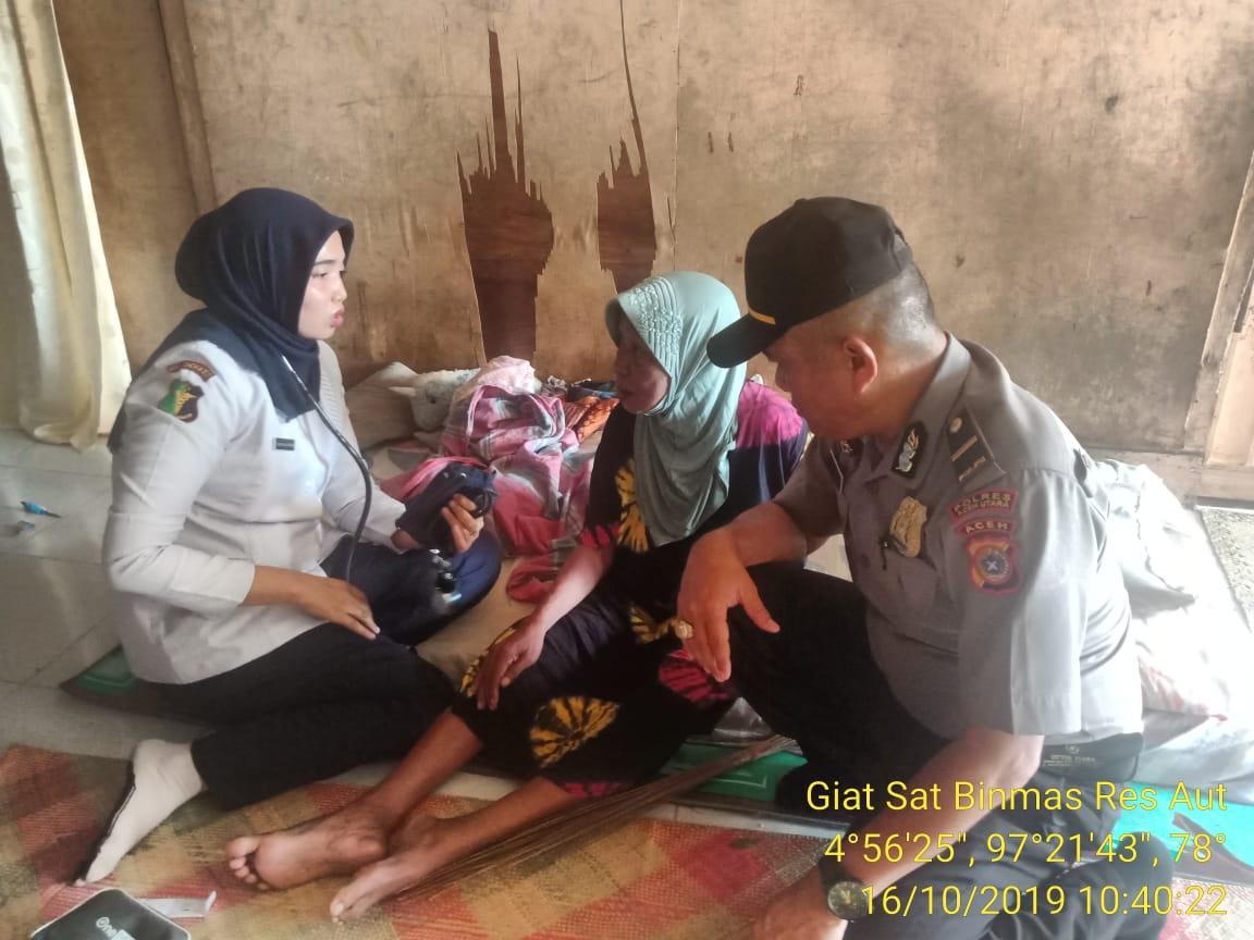 Polisi Beri Layanan Kesehatan Door to Door di Pedalaman Aceh Utara