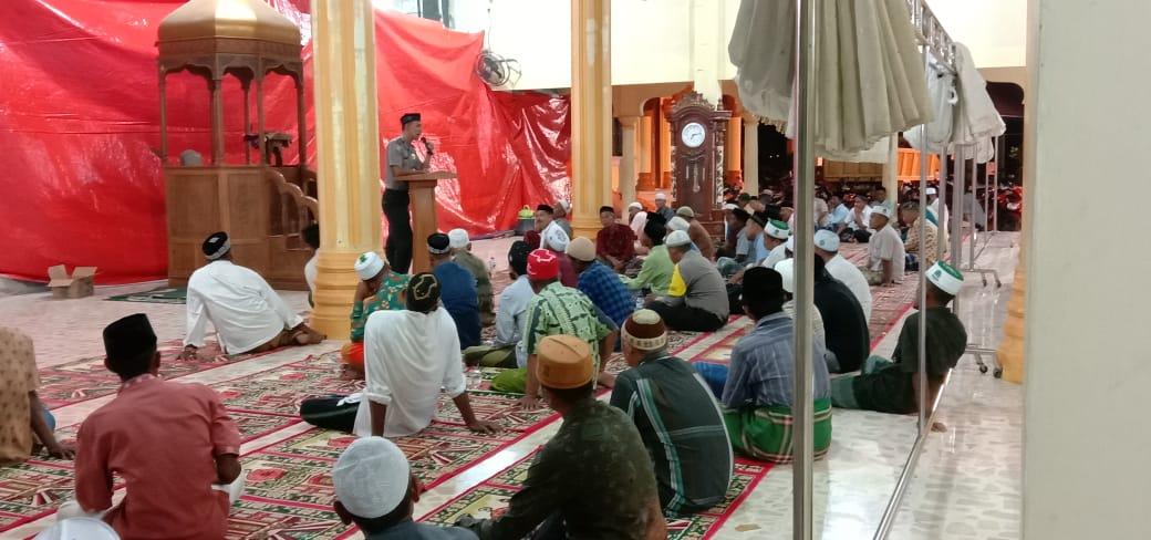 Polisi Ceramah di Masjid, Sampaikan Harkamtibmas bukan Hanya tugas Polri