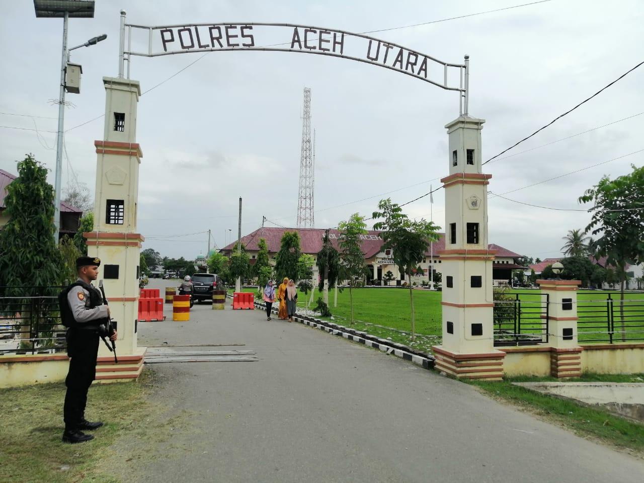 Polres Aceh Utara Tingkatkan Pengamanan Pasca Bom Bunuh Diri di Medan