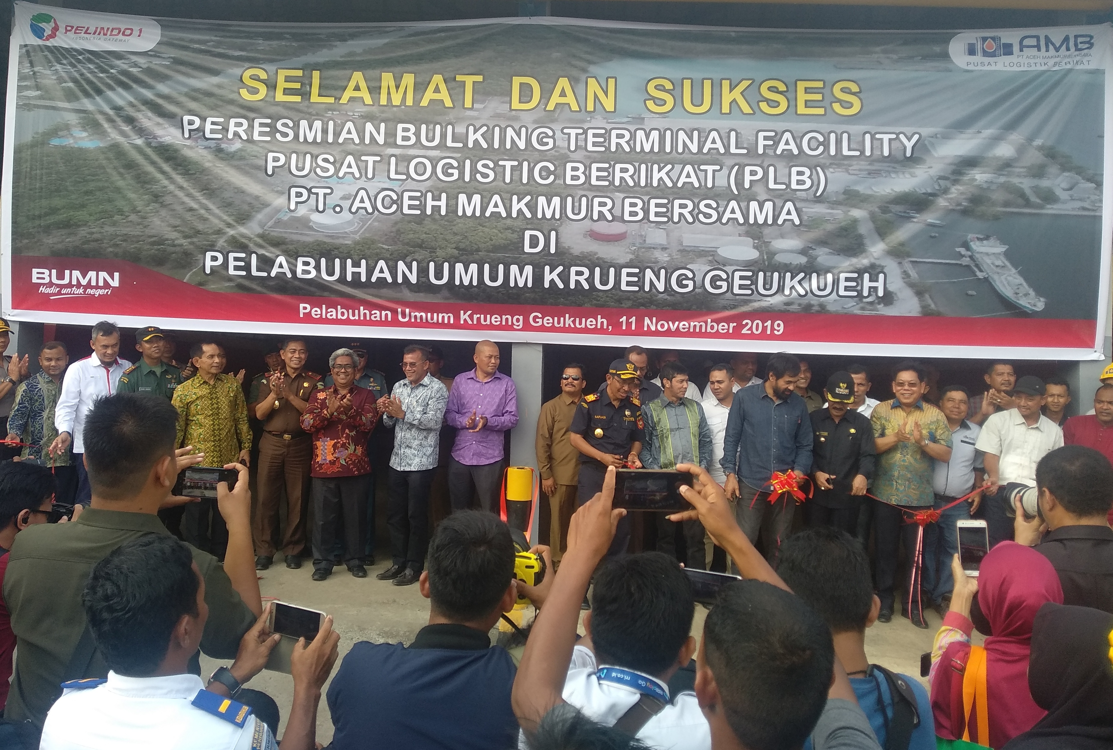 Wakapolres Aceh Utara Hadiri Peresmian Tangki Timbun PT AMB, Tempat Ekspor CPO