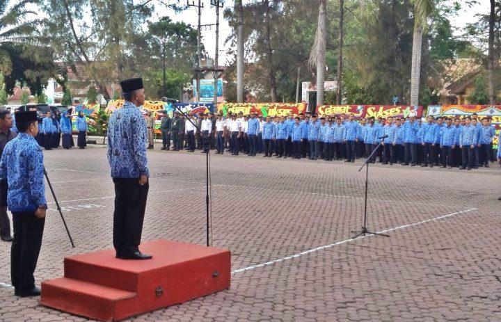 Wakapolres Aceh Utara Hadiri Upacara HUT Ke-48 Korpri