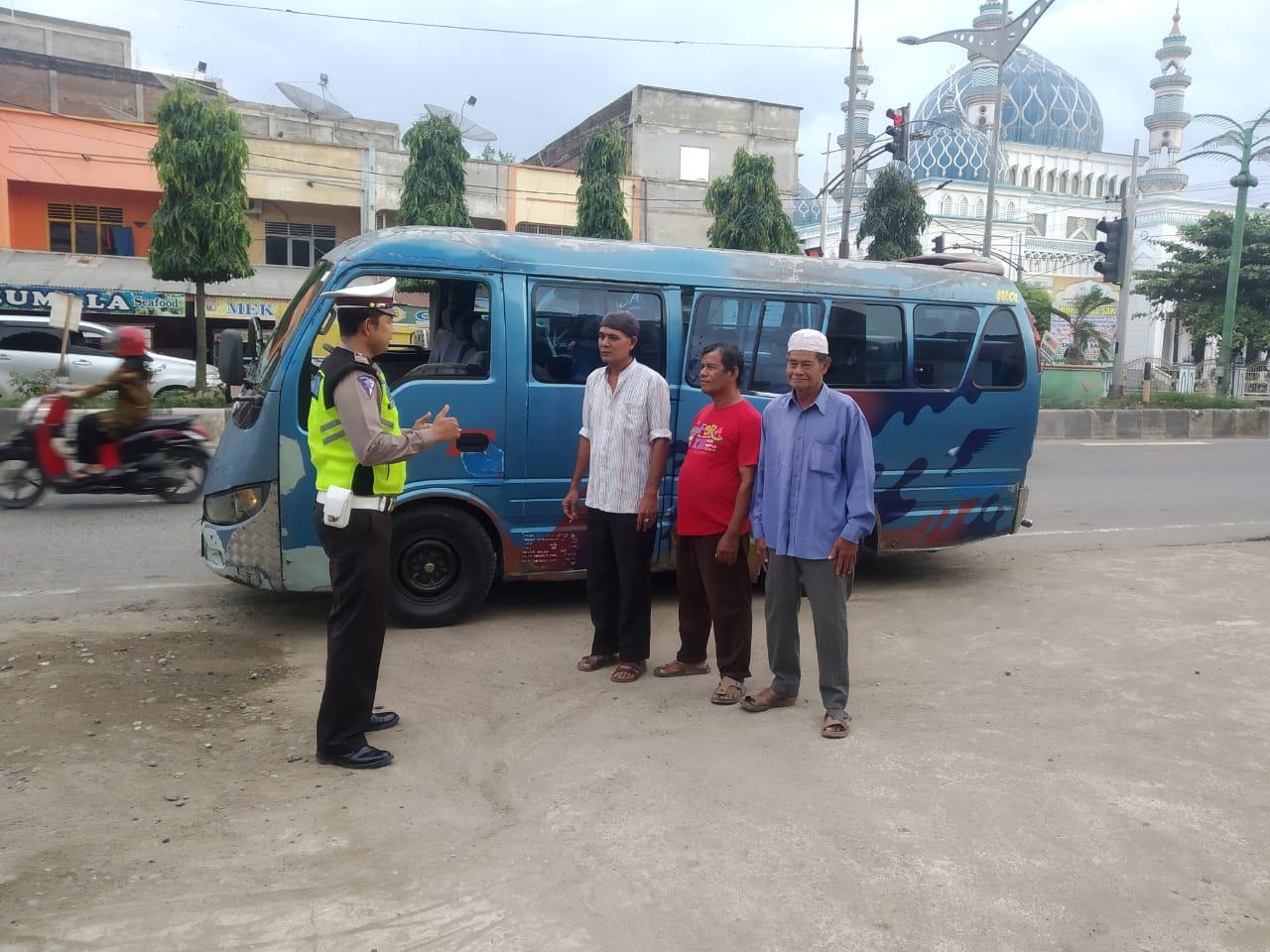 Sat Lantas Aceh Utara Imbau Sopir Angkutan Umum Jaga Keselamatan