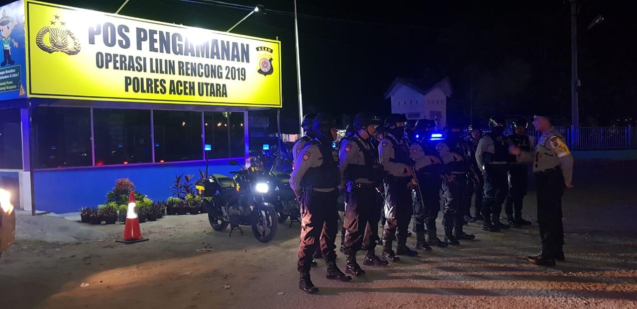 Operasi Lilin Rencong 2019, Satuan Sabhara Polres Aceh Utara Tingkatkan Patroli