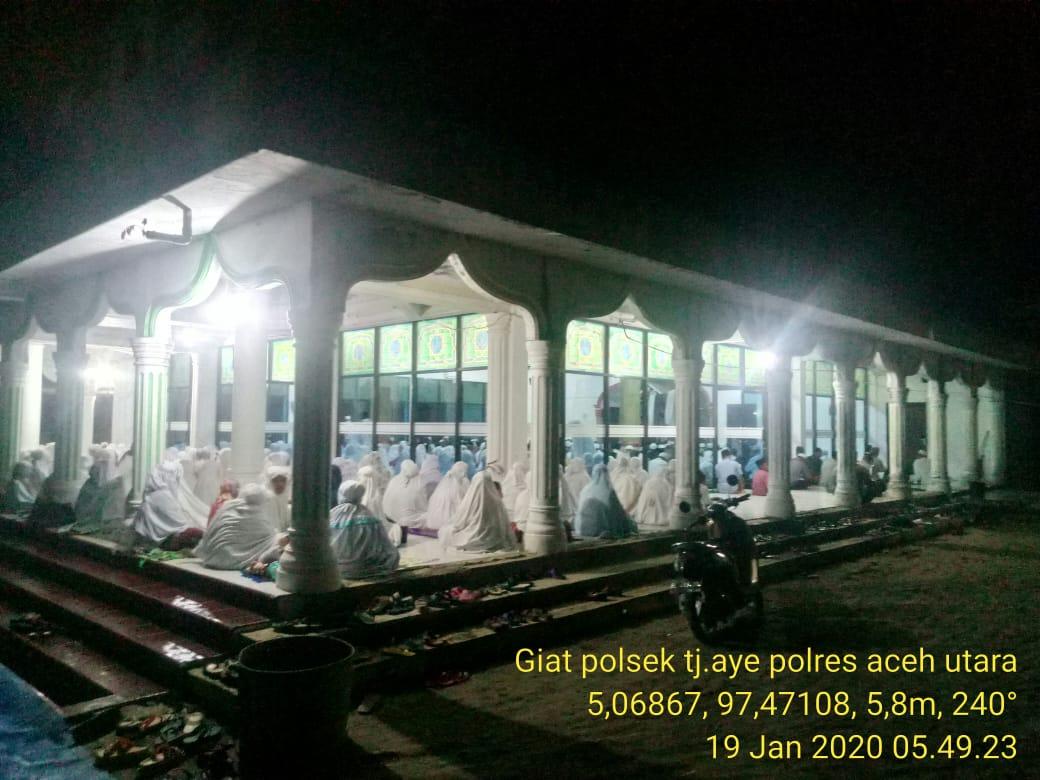 Safari Subuh Polres Aceh Utara Berlajut ke Masjid Baitul Kiram