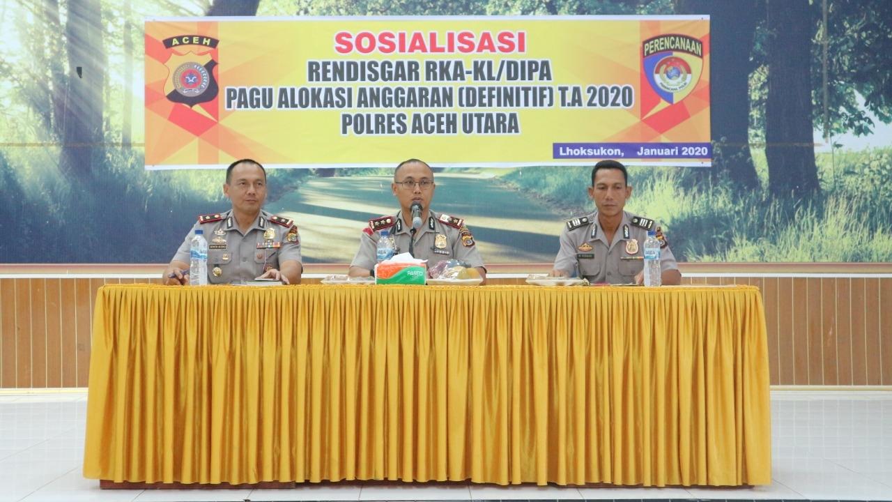 Tahun 2020 Anggaran DIPA Polres Aceh Utara Naik Dua Persen