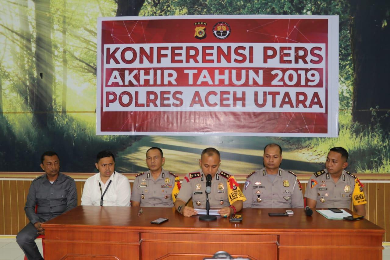 Ini jumlah kasus yang ditangani Polres Aceh Utara sepanjang 2019