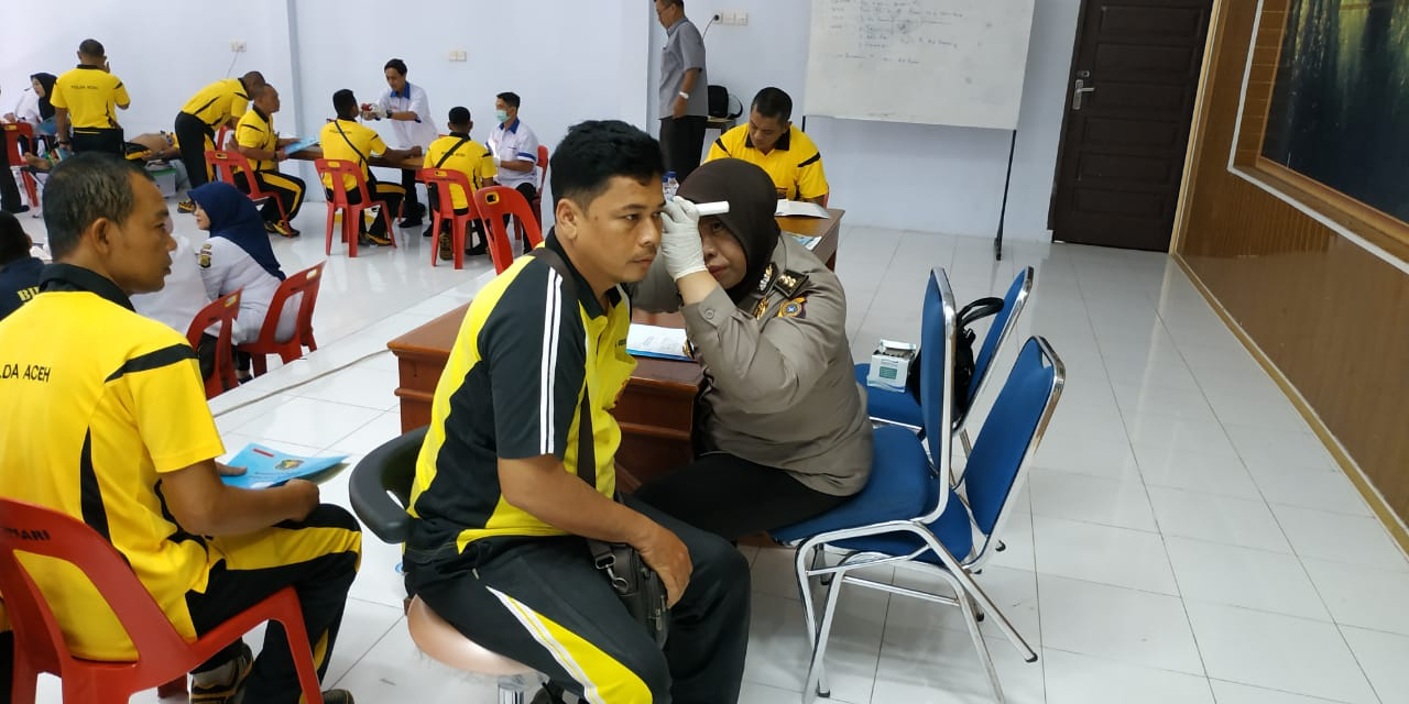 Ukur Kesehatan Personel, Polres Aceh Utara Gelar Rikkes Berkala