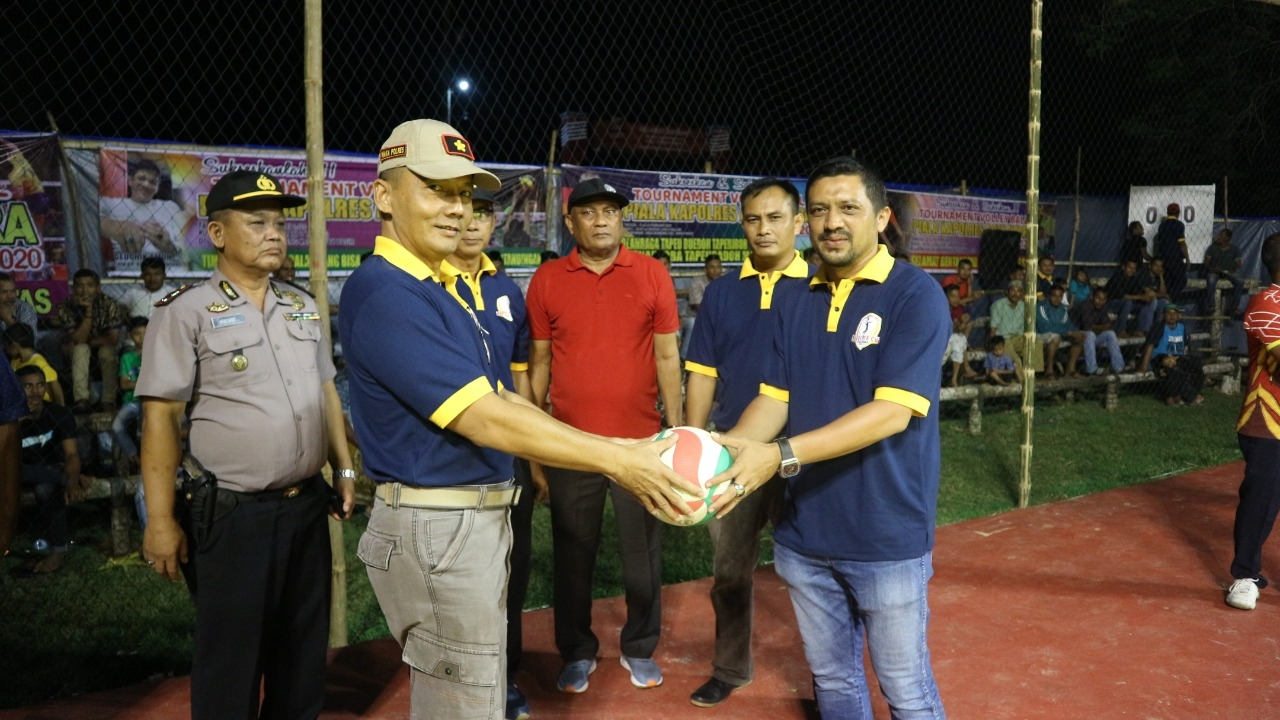 Open Turnamen Volly Ball Piala Kapolres Aceh Utara dimulai