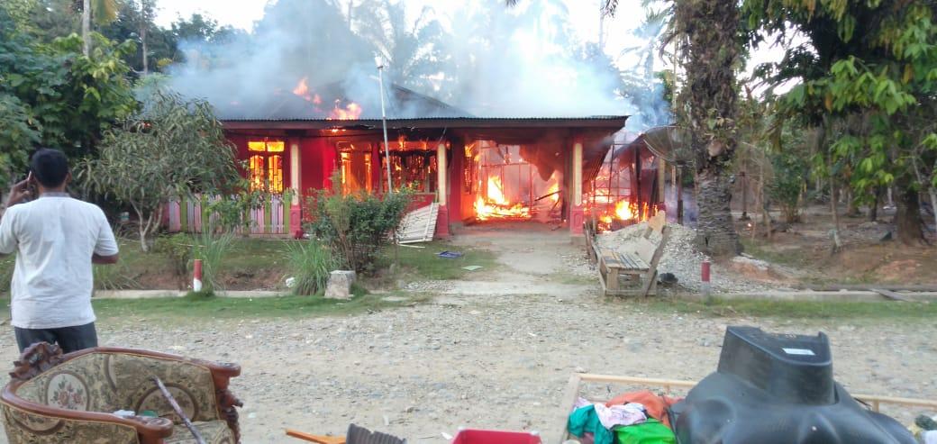 Kebakaran di Cot Girek, Musnahkan Rumah Boim