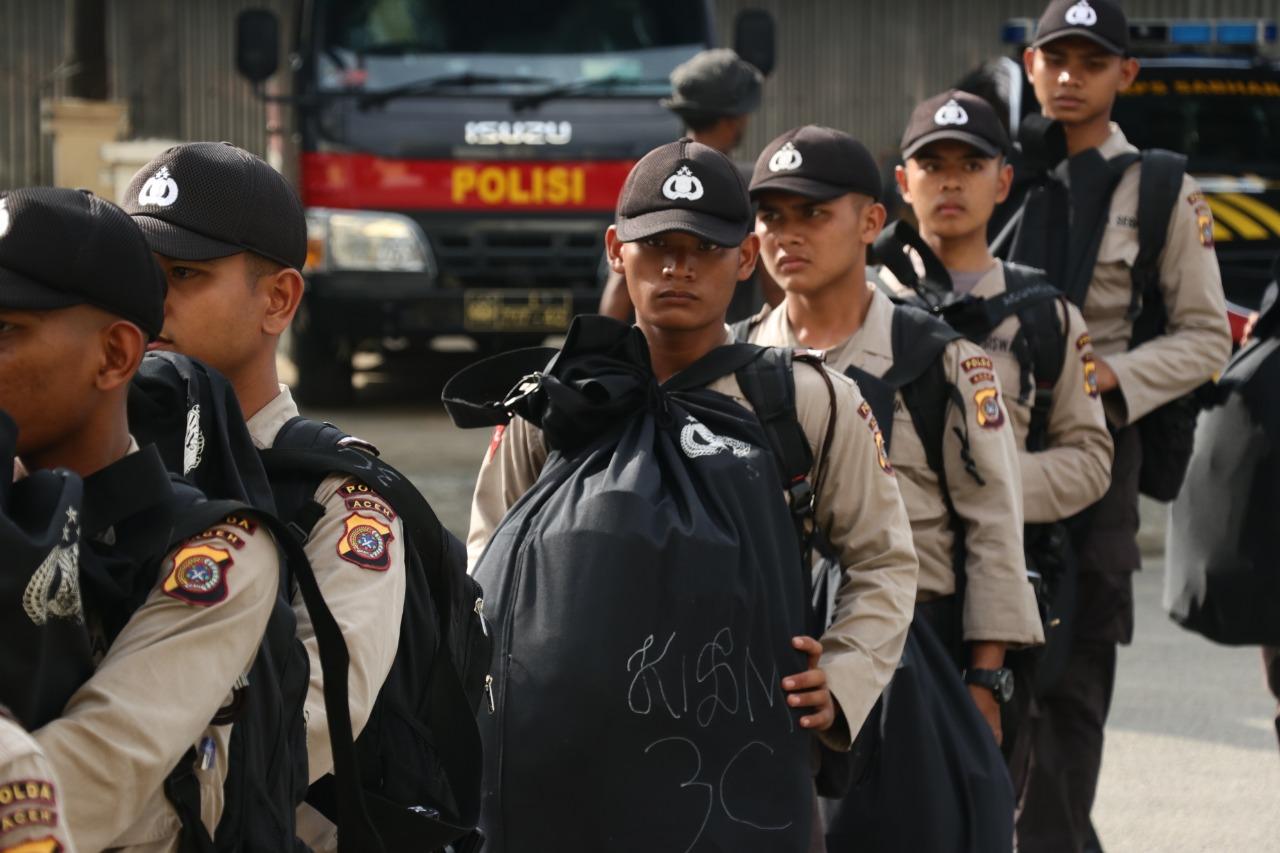 Selama 10 Hari, 50 Siswa SPN Seulawah Latihan Kerja di Polres Aceh Utara