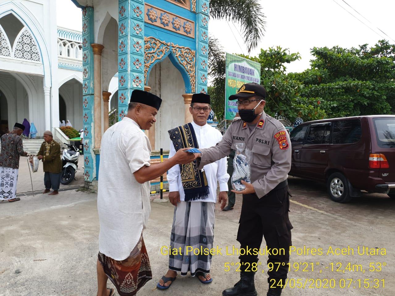 Foto : Pengamanan Shalat Idul Fitri di Ibu Kota Aceh Utara