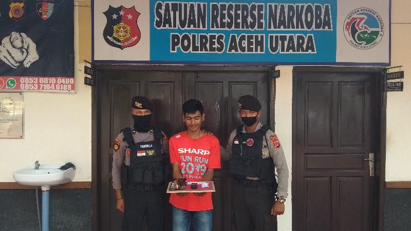 Nekat Antar Sabu Untuk Tahanan Polres, Pria ini Ditangkap di Penjagaan