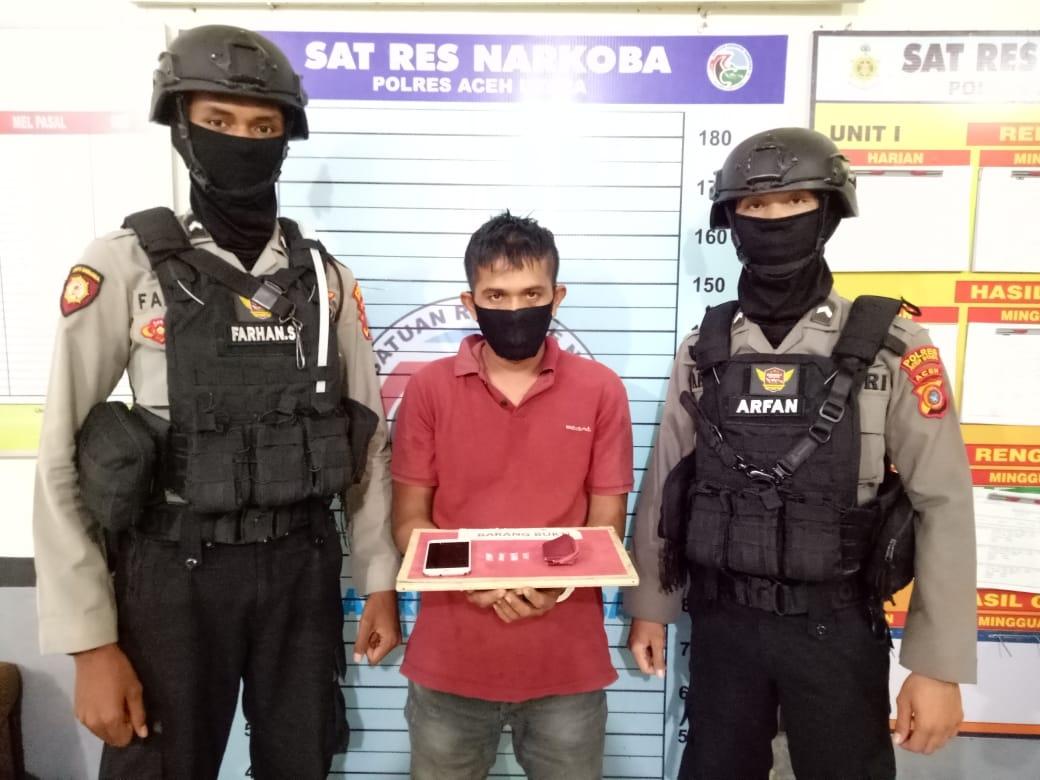 Pengedar Sabu Mangkal di Warung Dibekuk Polisi