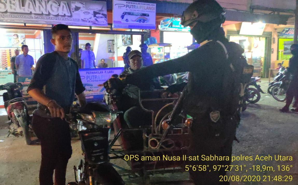 Satgas Ops Aman Nusa II Polres Aceh Utara, Nonstop Cegah Penularan Covid-19