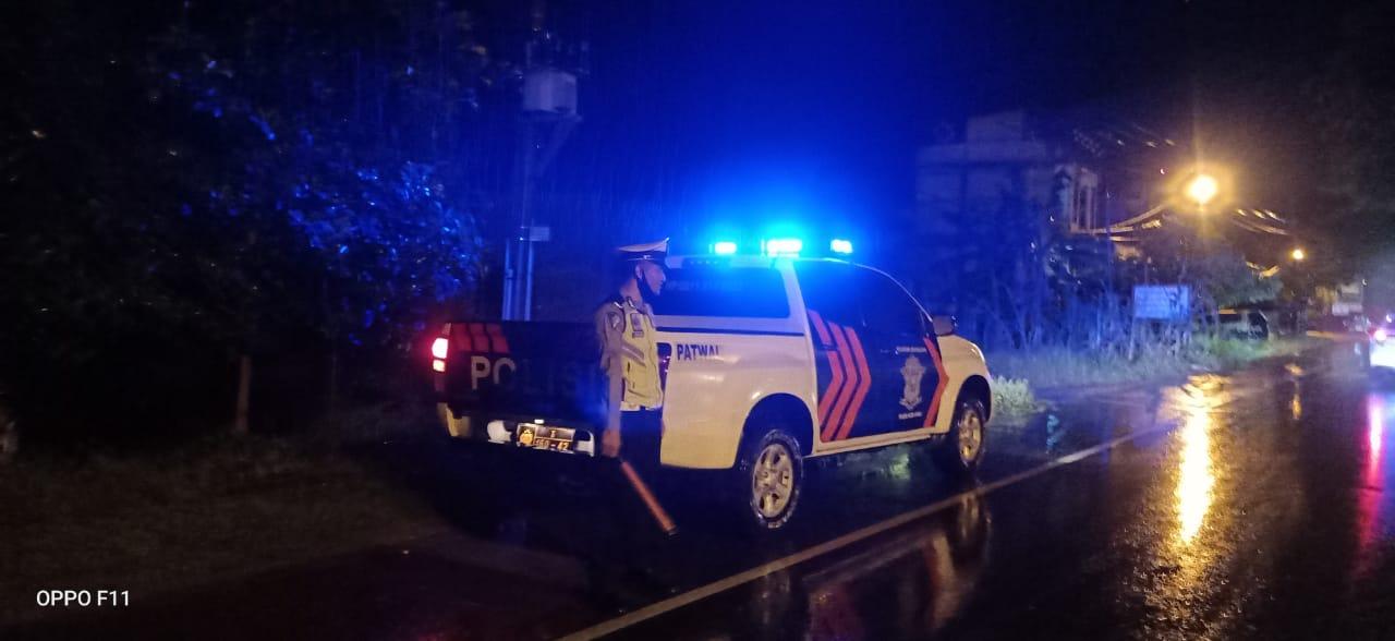 Tekan Angka Kecelakaan, Sat Lantas Polres Aceh Utara Lakukan Patroli Malam