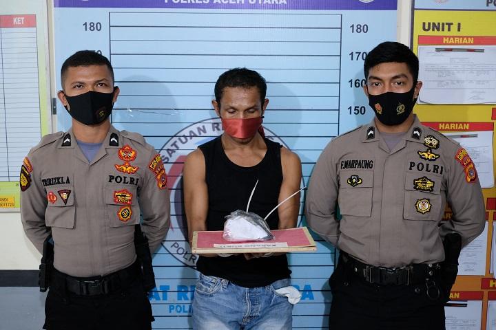 Pengedar Narkoba Asal Aceh Timur ditangkap, 11 paket Sabu Jadi Barang Bukti