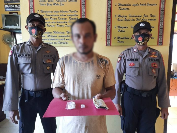 Loet Ditangkap Polsek Langkahan, Sabu dibawah Pipa Pembuangan Disita