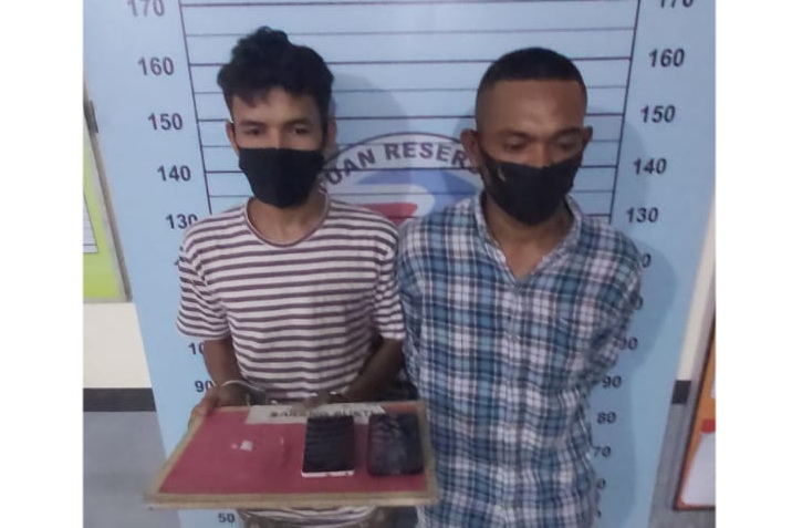 Kantongi Dua Paket Sabu, Dua Pemuda Ini Diboyong ke Polres Aceh Utara