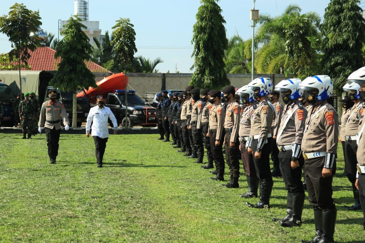 Polres Aceh Utara Gelar Apel Kesiapan Penanggulangan Bencana