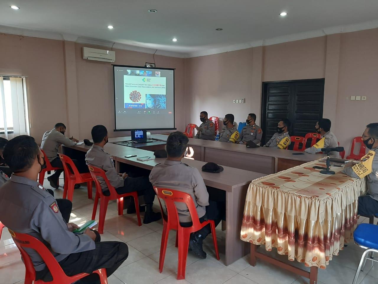 Bhabinkamtibmas di Aceh Utara Ikuti Workshop Fasilitator Tracer Covid-19