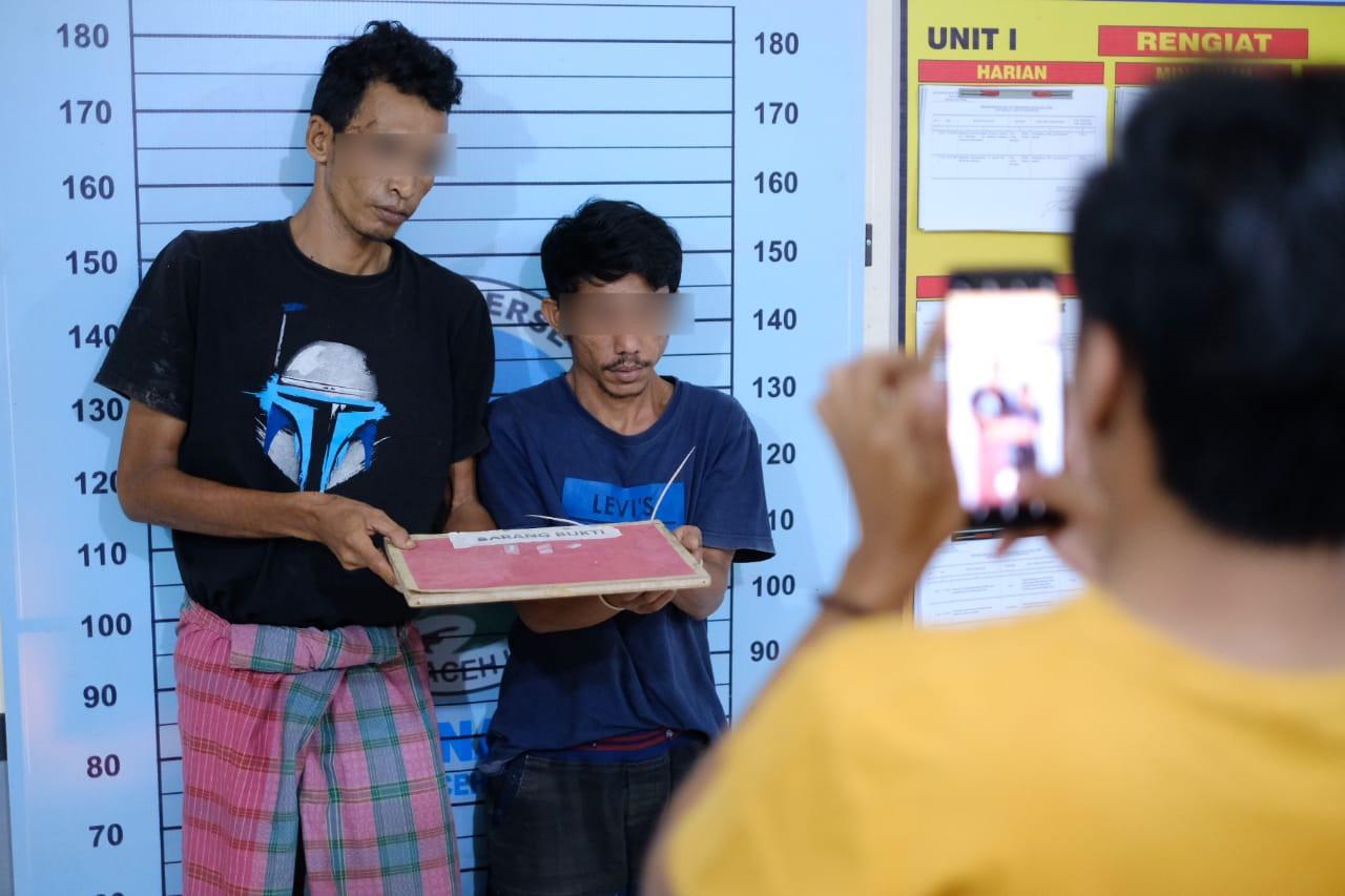 Polres Aceh Utara Tangkap Dua Pria di Matangkuli, 3 Paket Sabu Jadi Barang Bukti